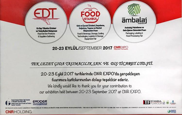 CNR Food 2017 İstanbul
